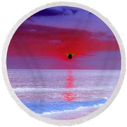 Sunsets On The Water - Photopower 01 Round Beach Towel