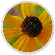 Sunshine On Susan Round Beach Towel