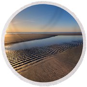 Sunshine On The Beach Round Beach Towel