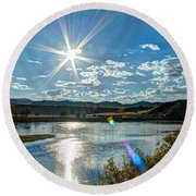 Sunshine On The Missouri Round Beach Towel