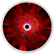Super Massive Black Hole Round Beach Towel