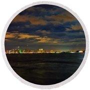 Super Moon Over San Diego 1 Round Beach Towel