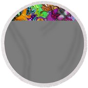 Super Rainbow Butterflies Round Beach Towel