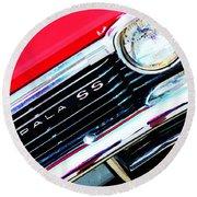 Super Sport 2 - Chevy Impala Classic Car Round Beach Towel