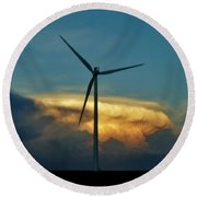 Supercell Windmill Round Beach Towel
