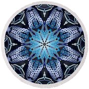 Supercharged Enlightenment Round Beach Towel
