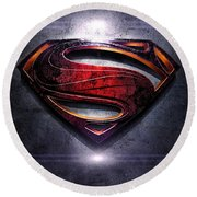 Superman Series 05 Round Beach Towel