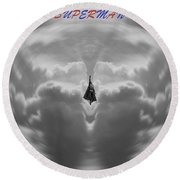 Superman Round Beach Towel by Dan Sproul