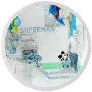 Superman Round Beach Towel