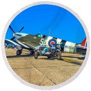 Supermarine Mk959 Spitfire Round Beach Towel