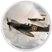 Supermarine Spitfire Mk I Round Beach Towel