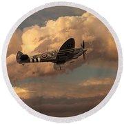 Supermarine Spitfire Mk Lfix  Round Beach Towel