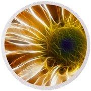 Supernova Round Beach Towel by Adam Romanowicz