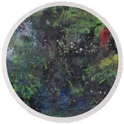 Supernova Number Three Round Beach Towel