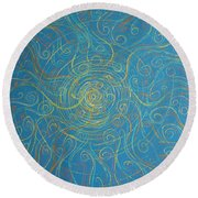 Superstrings Of The Qark Round Beach Towel