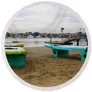 Suping Round Beach Towel by Heidi Smith