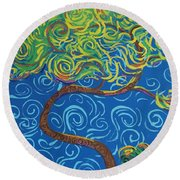 Supporting The Glow Round Beach Towel