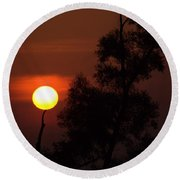 Supporting The Sun Round Beach Towel