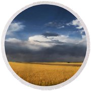 Sure Wish It Would Round Beach Towel by Jon Burch Photography