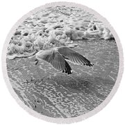 Surf And Wings Round Beach Towel