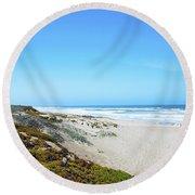 Surf Beach Lompoc California Round Beach Towel