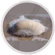 Surf Bubbles Round Beach Towel