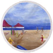 Surf Camp Round Beach Towel