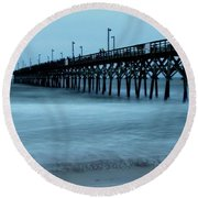 Surf City Pier Soft 2 Round Beach Towel