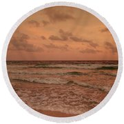 Surf - Florida Round Beach Towel by Sandy Keeton