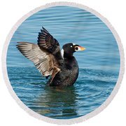 Surf Scotter Male Wings Round Beach Towel