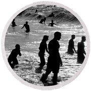 Surf Swimmers Round Beach Towel