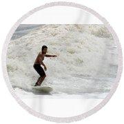 Surfer 0803b-2 Round Beach Towel
