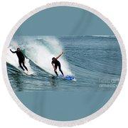 Surfer 1 Round Beach Towel