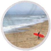 Surfer Boy Round Beach Towel