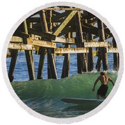 Surfer Dude 1 Round Beach Towel