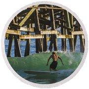 Surfer Dude 3 Round Beach Towel