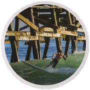 Surfer Dude 4 Round Beach Towel