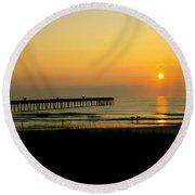 Surfers Sunrise Round Beach Towel