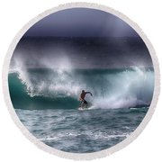 Surfing In The Usa V10 Round Beach Towel