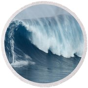 Surfing Jaws 5 Round Beach Towel