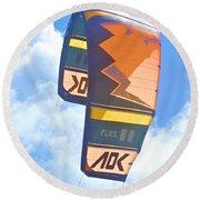 Surfing Kite Round Beach Towel