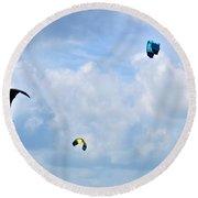 Surfing Kites Round Beach Towel