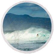 Surfing Light Round Beach Towel