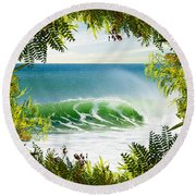 Surfing Paradise Round Beach Towel