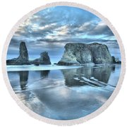 Surreal Beach Swirls Round Beach Towel