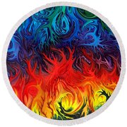 Surreal Dance By Rafi Talby   Round Beach Towel