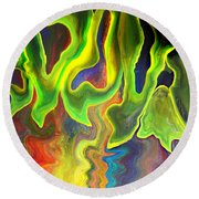 Surreal Impulse.. Round Beach Towel