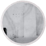 Within The Casbah Round Beach Towel