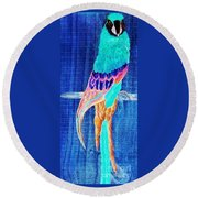 Surreal Parrot Round Beach Towel