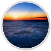 Surreal Planet Round Beach Towel